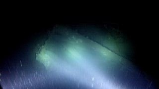 S.S. Terra Nova bridge supports visible in the underwater video filmed from R/V Falkor with SHRIMP (Simple High Resolution IMaging Package)