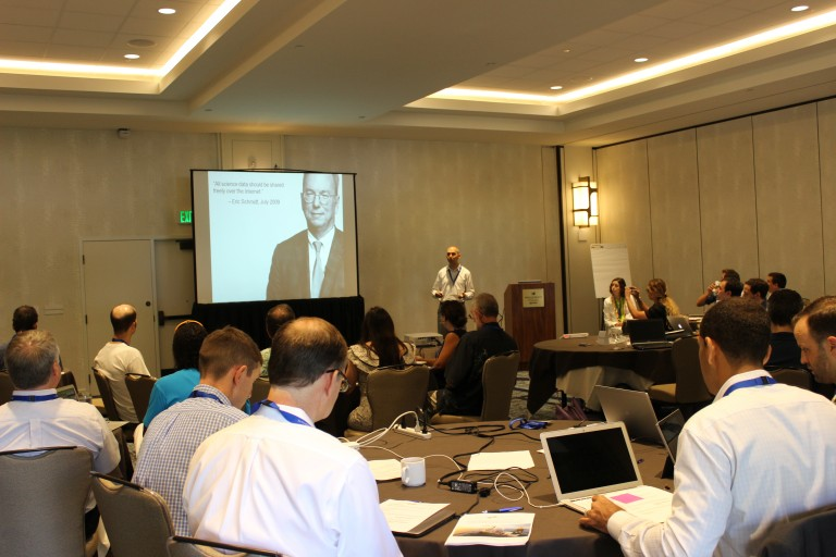 Victor Zykov, Director of Research, gives opening remarks for the 2015 workshop.