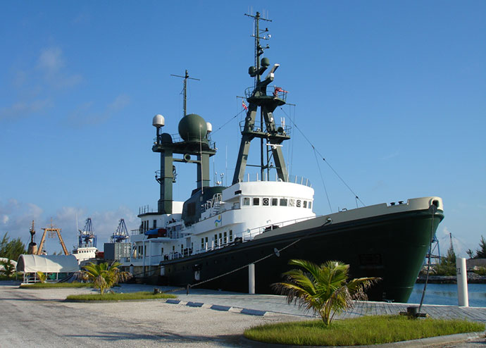 Lone Ranger at the dock in Freeport, Bahamas on July 20, 2011.