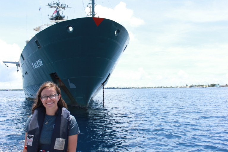 Student Opportunities participant Julianna Diehl is learning what it takes to be a marine technician onboard of R/V Falkor.