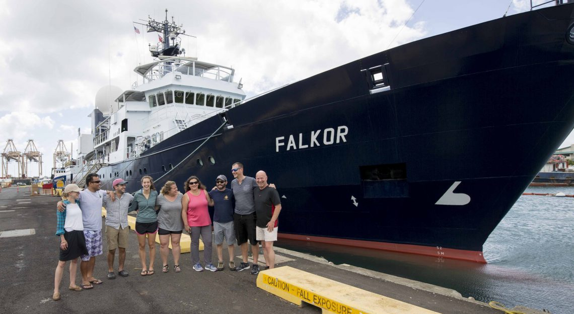 An excited science team says goodbye to land before 6 days of sailing.