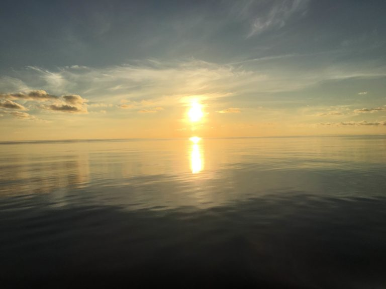 Sunrise as seen from Falkor