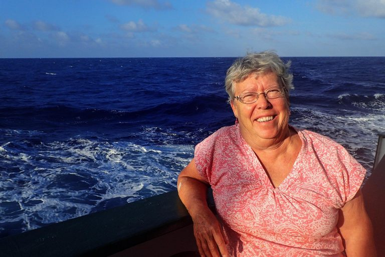 Joyce Miller is a multibeam mapping scientist currently onboard R/V Falkor. Once Falkor reaches the recently expanded area of the Marine Monument, the seafloor will be mapped.