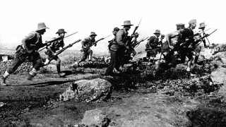 ANZACs on the shores of Gallipoli.