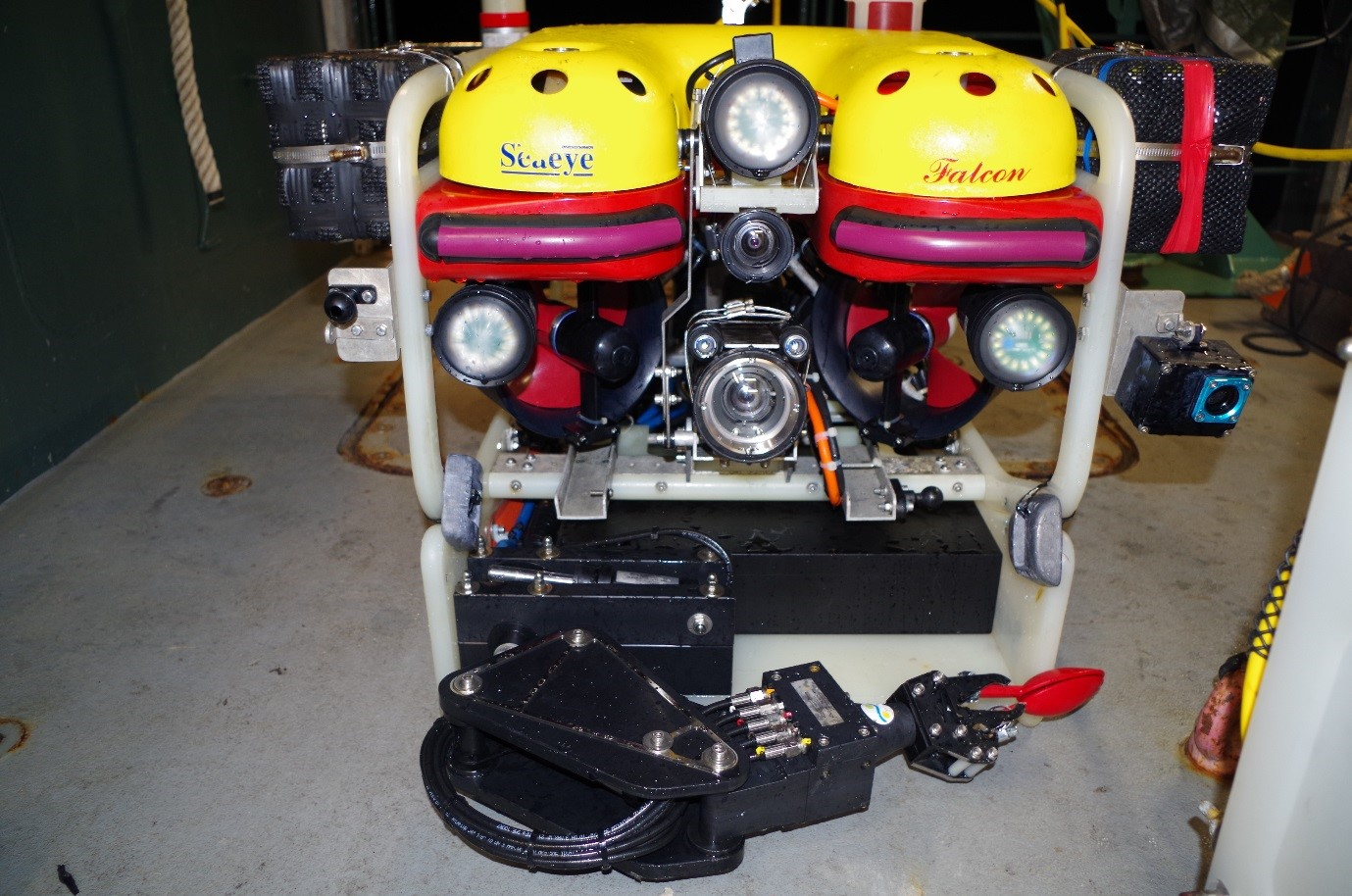 ROV ready to collect coral samples.