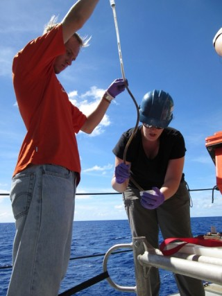 Despite measurement differences, the crew and scientists work together to collect important samples.