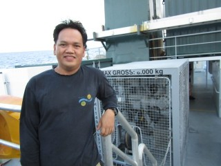 Engineering fitter Edwin makes everything from science instruments to ship parts work on board.