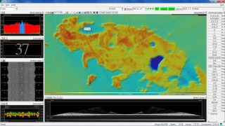 A screen shot of the sonar map for the area we're calling Falkor Bank.