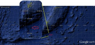 Location of Falkor Seamount off of Guam.