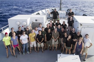 The research crew of the Life Without Oxygen in the Pacific expedition, sailing the beautiful, interesting waters of the Pacific Ocean.