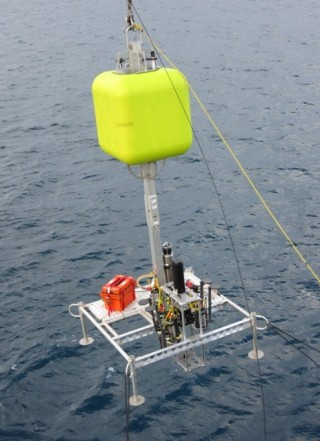 Two of the landers have bright yellow lollypops, made of syntactic foam used for both flotation and visibility.