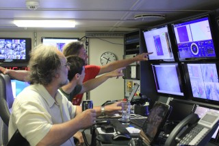 Scientists can see in real time when there is a change in the ocean water during a CTD deployment. This allows them to find the hydrothermal plumes at Loihi easily.