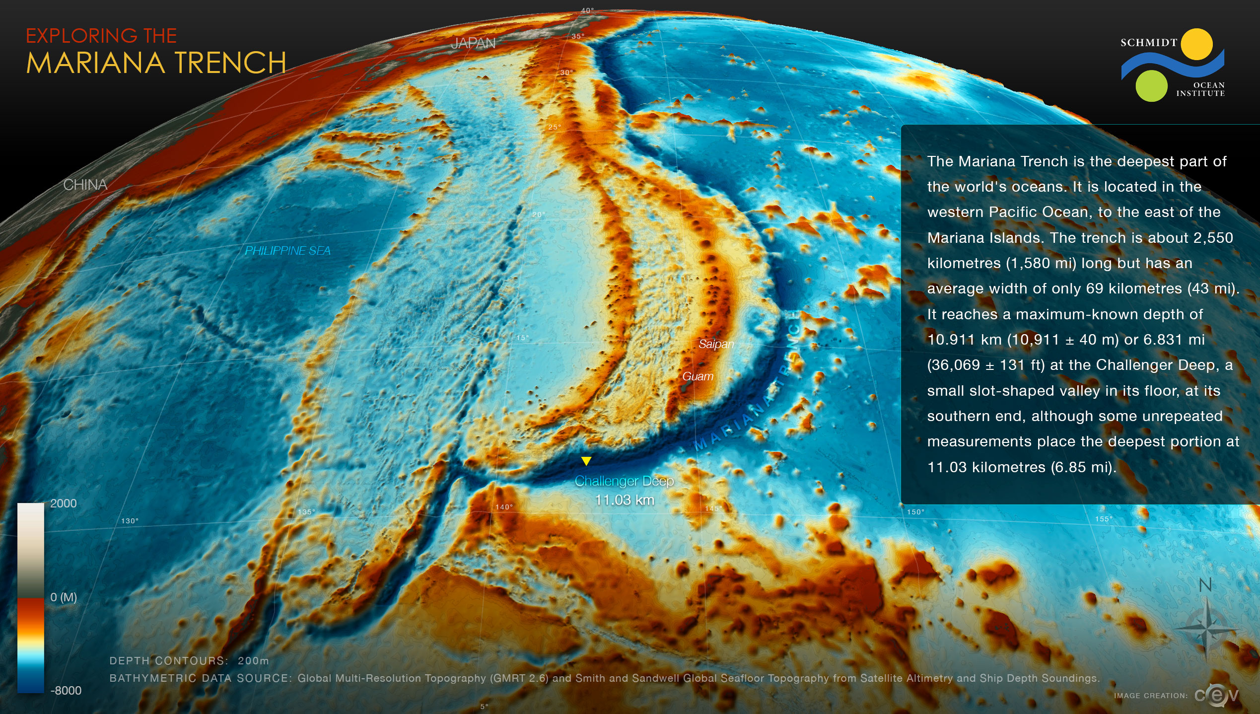 Exploring the Mariana Trench Map