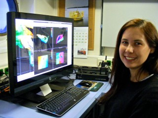 Nicky Wright, processing sonar data.