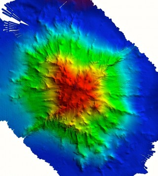 A closer view of the new Wentworth Seamount map