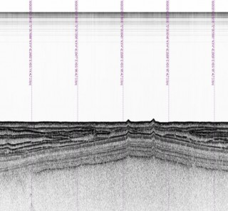 Sub Bottom Profiler image of a mud volcano - data collected by AUV Sentry under the direction of Chirstopher German