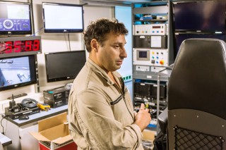 Adrian Tramallino, Information Technology Manager, managing the upgrade process in the Control Room and video matrix system.